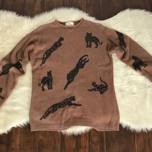 SML Sport Sweaters - SML Sport LTD vintage sweater with Cheetahs